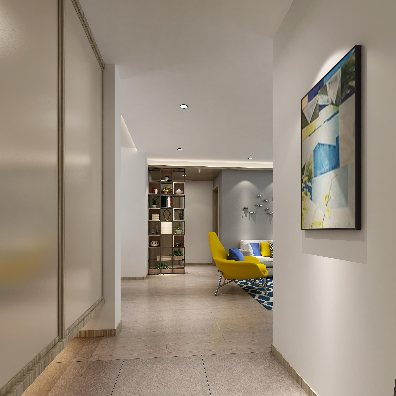 简约 小资 旧房改造 玄关图片来自敏空间在杨浦新凤城公寓的分享