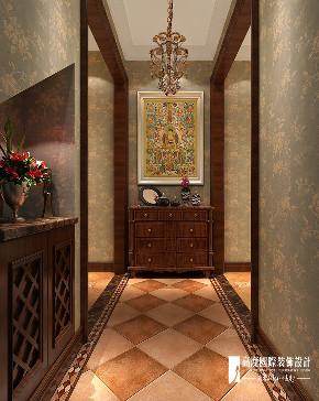 美式 别墅 复式 跃层 大户型 80后 小资 玄关图片来自高度国际姚吉智在西山艺境300平米简约美式范儿的分享