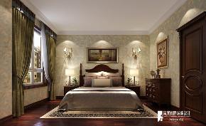 美式 别墅 复式 跃层 大户型 80后 小资 卧室图片来自高度国际姚吉智在西山艺境300平米简约美式范儿的分享