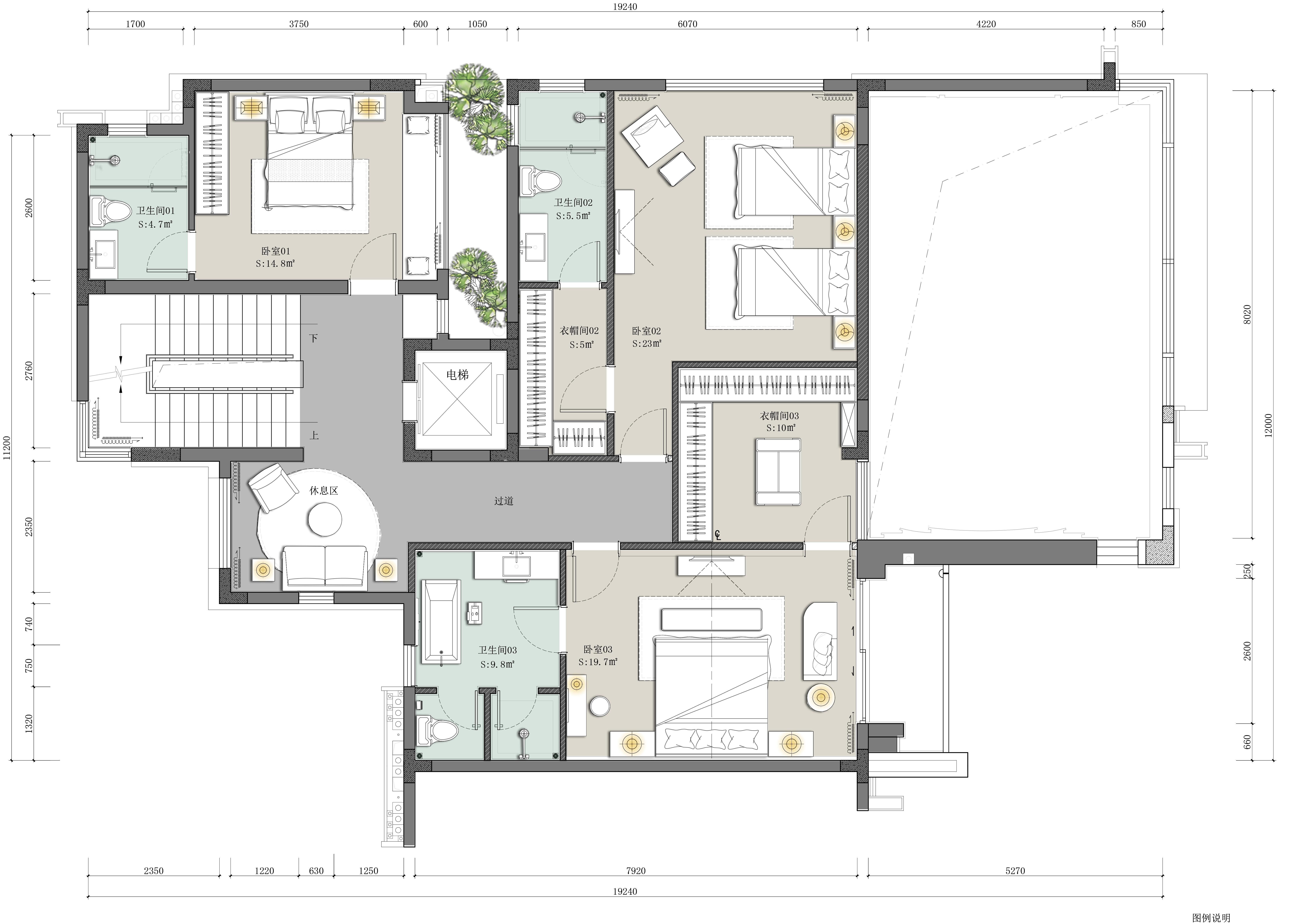 别墅 客厅 小资 卧室 厨房 餐厅图片来自起点设计在大运城邦的分享