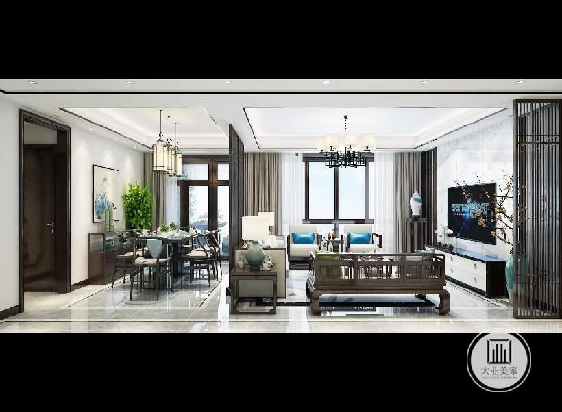 家装设计 大业美家 简中风格图片来自大珺17631160439在国宾一号158平米房子简中风格的分享