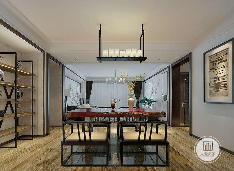 新中式 餐厅图片来自大业美家 家居装饰在中冶德贤143新中式案例效果的分享