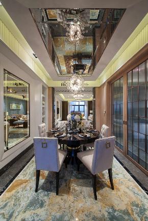 新古典 三居 大户型 复式 跃层 别墅 80后 小资 餐厅图片来自高度国际姚吉智在158平米古典风无法低调的高雅的分享