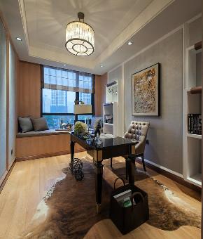 新古典 三居 大户型 复式 跃层 别墅 80后 小资 书房图片来自高度国际姚吉智在158平米古典风无法低调的高雅的分享