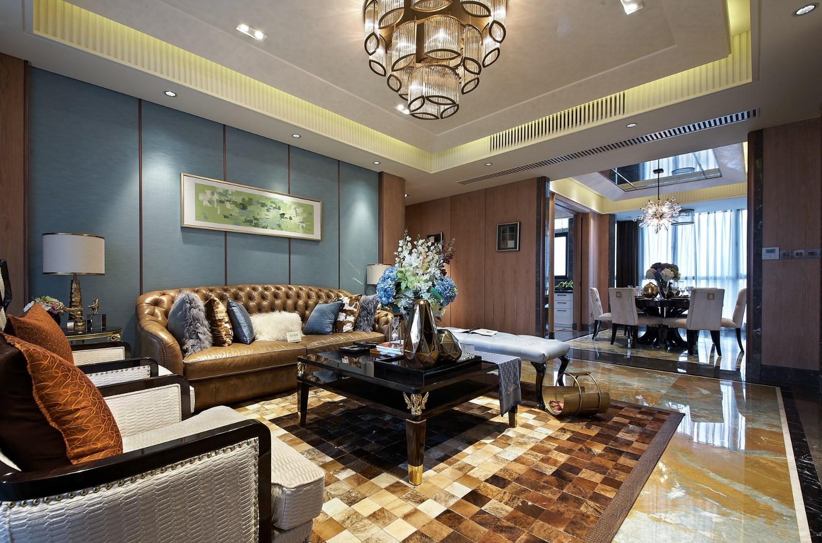 新古典 三居 大户型 复式 跃层 别墅 80后 小资 客厅图片来自高度国际姚吉智在158平米古典风无法低调的高雅的分享