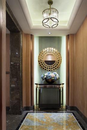 新古典 三居 大户型 复式 跃层 别墅 80后 小资 玄关图片来自高度国际姚吉智在158平米古典风无法低调的高雅的分享
