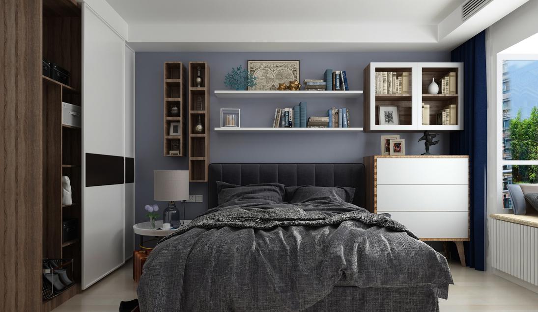 简约 三居 现代 卧室图片来自言白设计在清雅逸景的分享