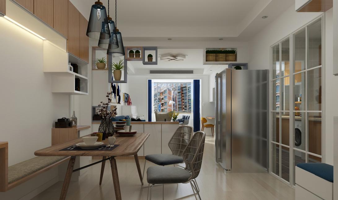 简约 三居 现代 餐厅图片来自言白设计在清雅逸景的分享
