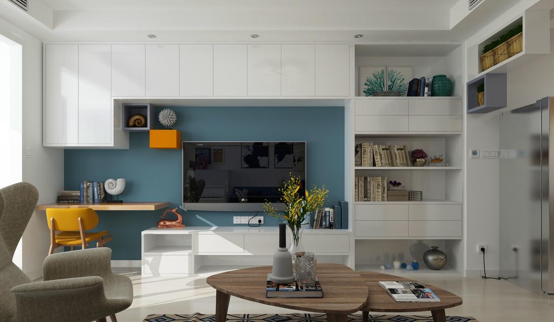 简约 三居 现代 客厅图片来自言白设计在清雅逸景的分享
