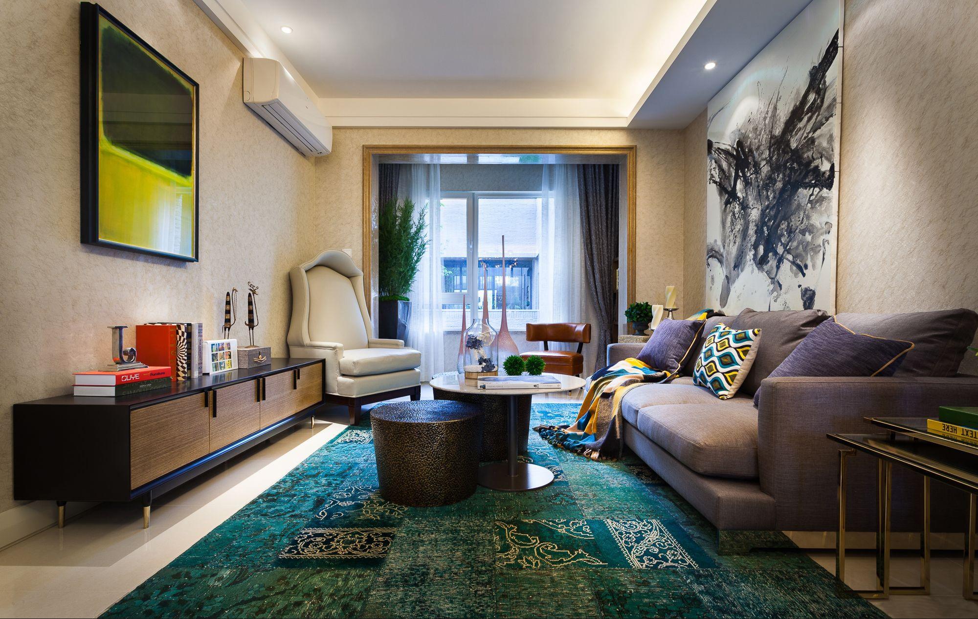 混搭 三居 大户型 复式 跃层 别墅 80后 小资 客厅图片来自高度国际姚吉智在气质满满 160平米混搭风格装修的分享