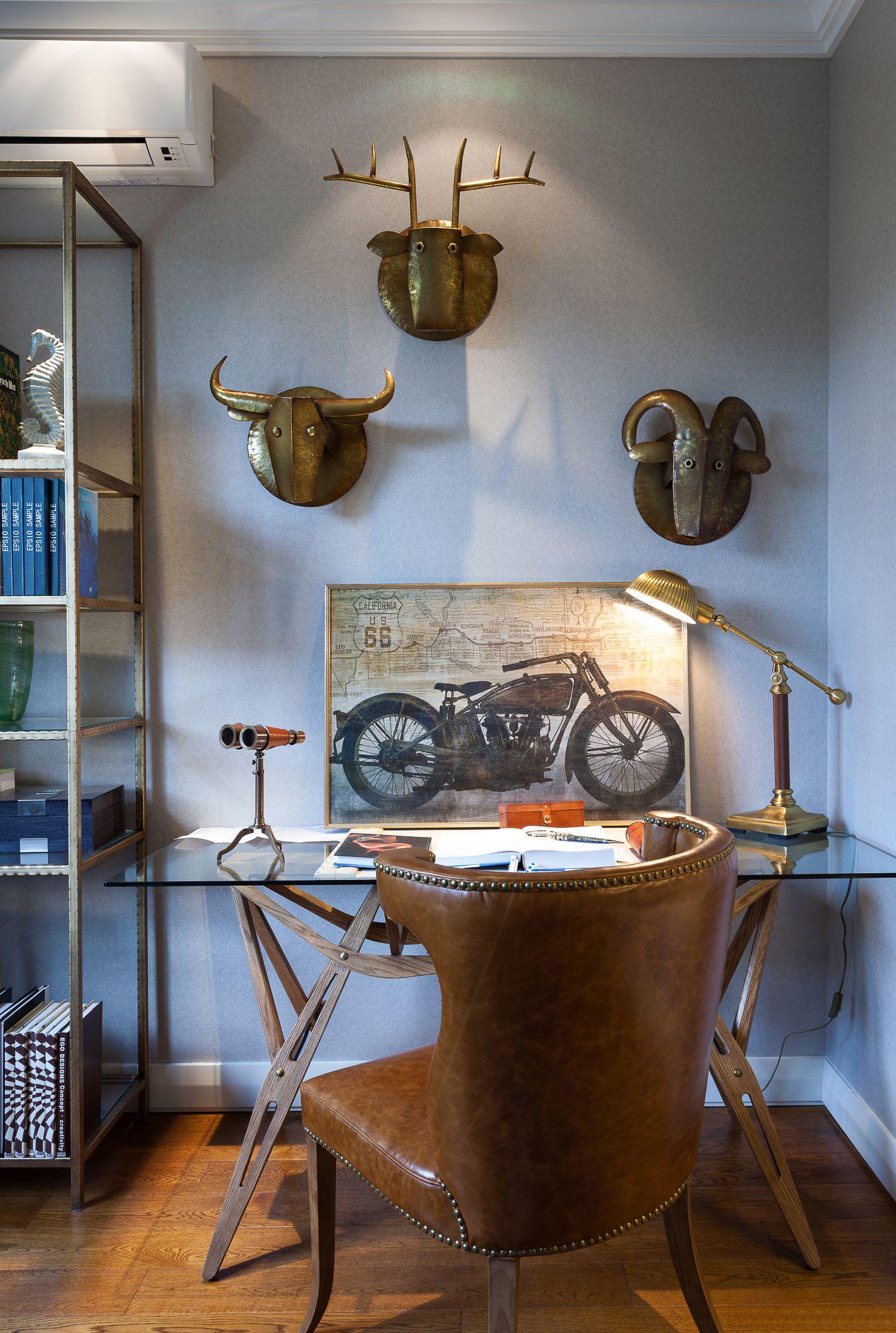 混搭 三居 大户型 复式 跃层 别墅 80后 小资 书房图片来自高度国际姚吉智在气质满满 160平米混搭风格装修的分享
