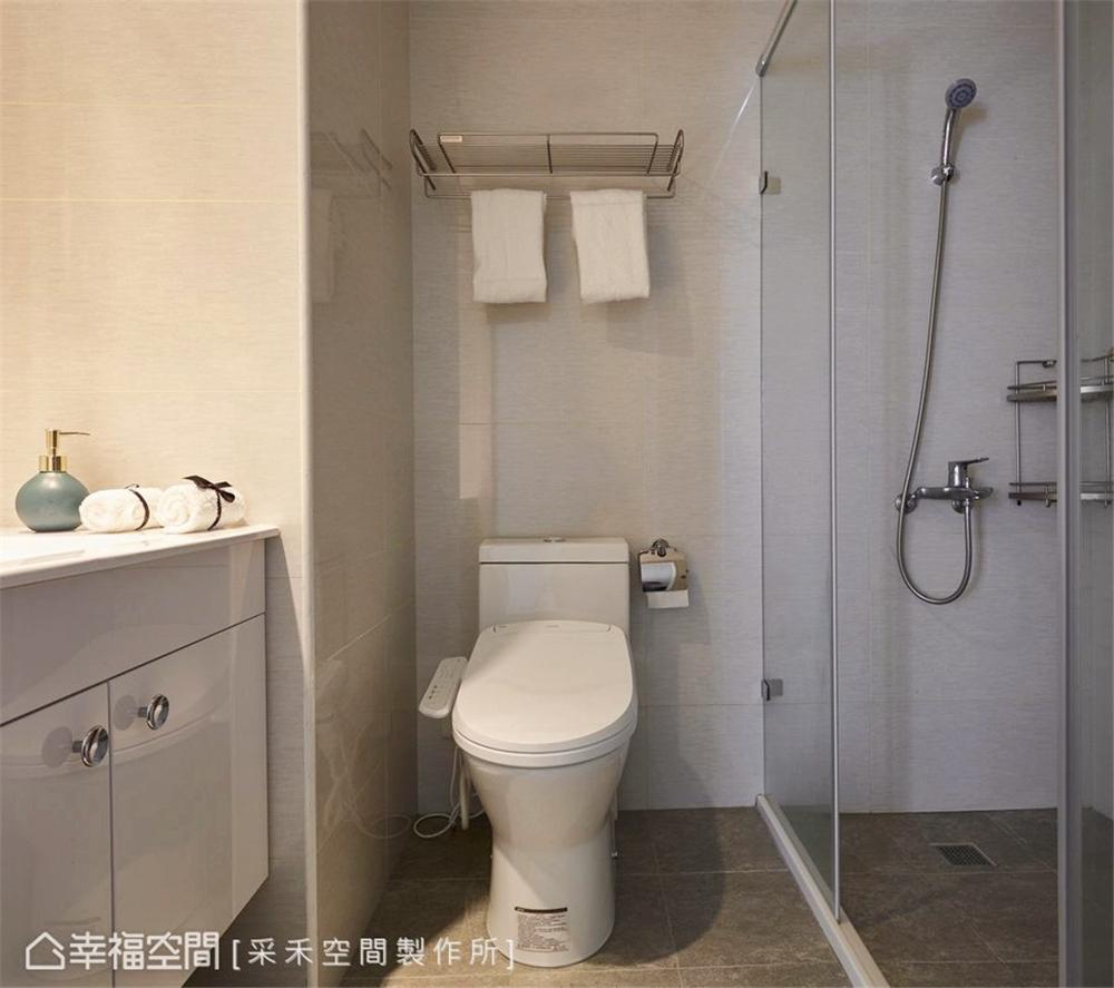 裝修风格 北欧风格 收纳 白领 80后 小资 卫生间图片来自幸福空间在76平,小夫妻的甜蜜爱情小屋的分享