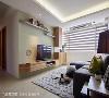 电视墙 墙面刷以浅绿色漆面,借跳色手法烘托北欧经典元素,并贴心将柜体及层板采圆弧收边,打造安全舒适的活动空间。