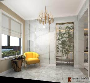轻奢 现代 三居 大户型 复式 跃层 白领 80后 小资 玄关图片来自高度国际姚吉智在远洋万和风景130㎡轻奢精致生活的分享