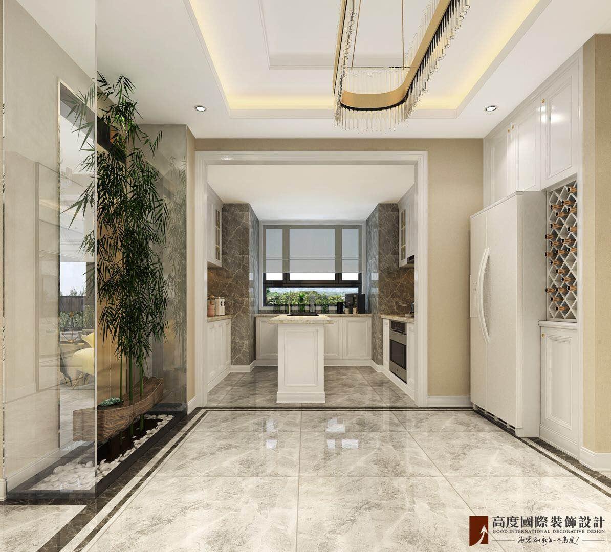 轻奢 现代 三居 大户型 复式 跃层 白领 80后 小资 厨房图片来自高度国际姚吉智在远洋万和风景130㎡轻奢精致生活的分享
