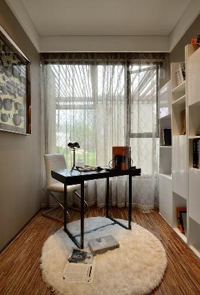 现代 后现代 三居 大户型 复式 跃层 白领 80后 小资 书房图片来自高度国际姚吉智在153平米后现代风轻奢空间的分享