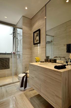 现代 后现代 三居 大户型 复式 跃层 白领 80后 小资 卫生间图片来自高度国际姚吉智在153平米后现代风轻奢空间的分享