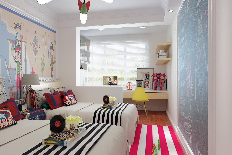 欧式 三居 白领 80后 小资 卧室图片来自装家美在当代MOMA沿湖城149平米简欧风的分享