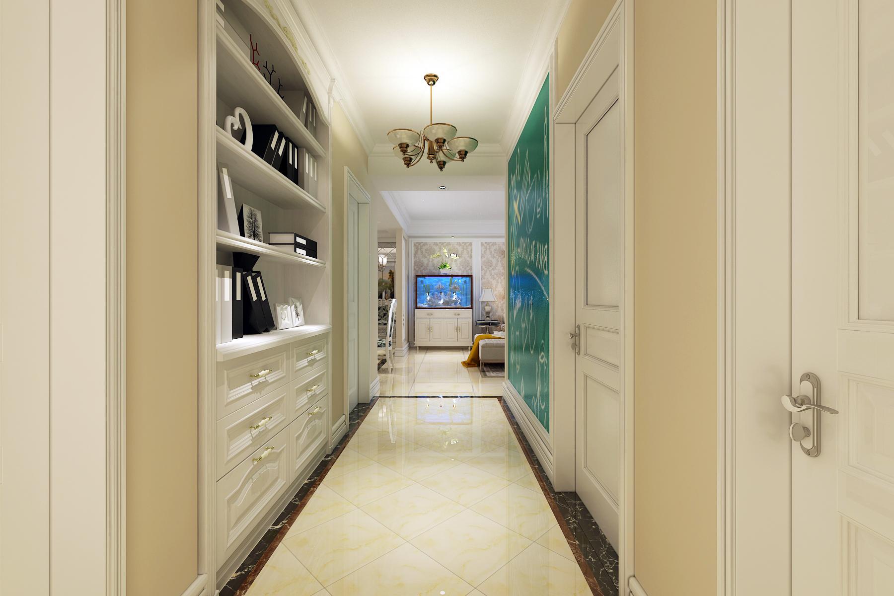 欧式 三居 白领 80后 小资 玄关图片来自装家美在当代MOMA沿湖城149平米简欧风的分享