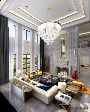 新古典 法式 别墅 跃层 复式 大户型 80后 小资 客厅图片来自高度国际姚吉智在天恒半山世家684㎡法式经典的分享