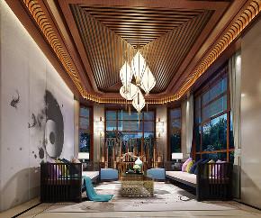 中式 别墅 跃层 复式 大户型 80后 小资 客厅图片来自高度国际姚吉智在460平米新中式东方韵味轻奢范的分享