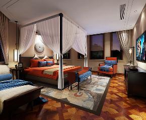 中式 别墅 跃层 复式 大户型 80后 小资 卧室图片来自高度国际姚吉智在460平米新中式东方韵味轻奢范的分享