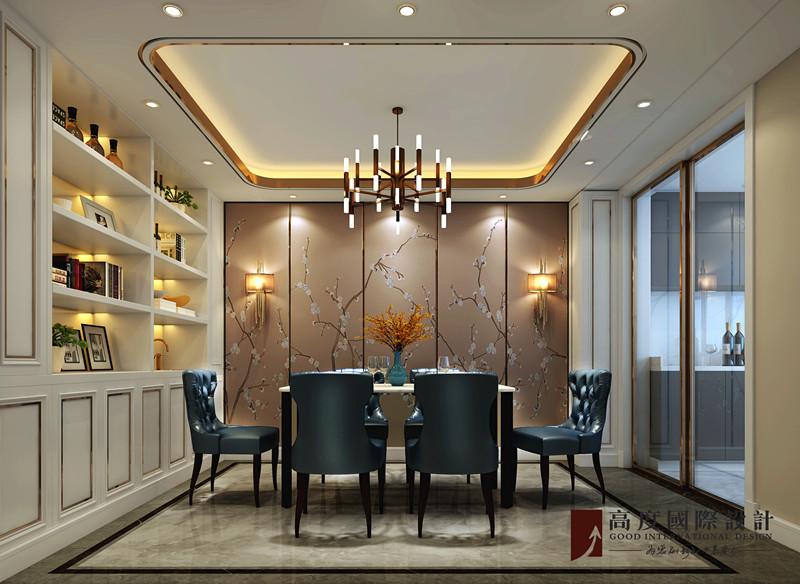 简约 三居 大户型 复式 白领 80后 小资 旧房改造 餐厅图片来自高度国际姚吉智在尽显时尚气质 新奥洋房110平米的分享