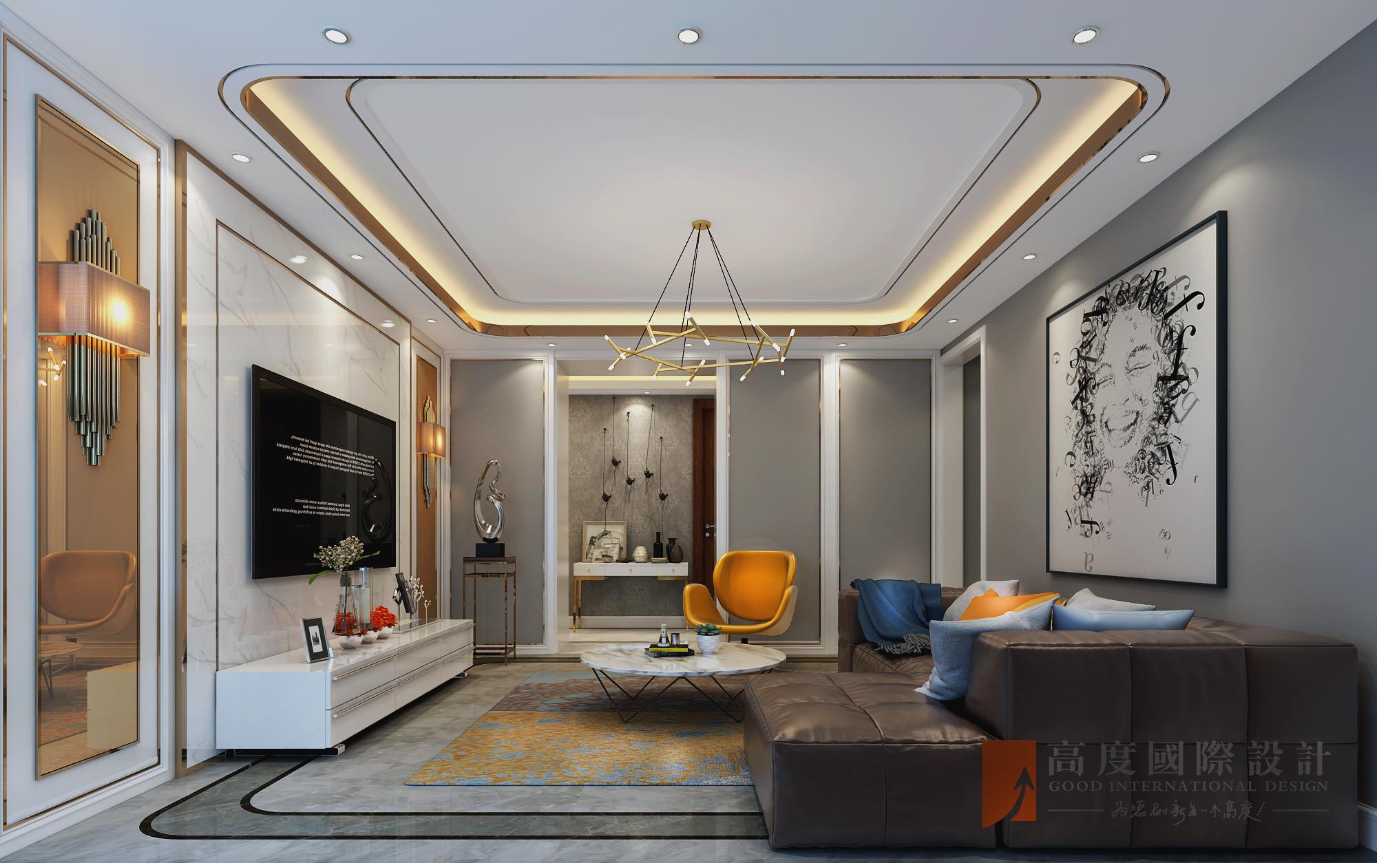 简约 三居 大户型 复式 白领 80后 小资 旧房改造 客厅图片来自高度国际姚吉智在尽显时尚气质 新奥洋房110平米的分享