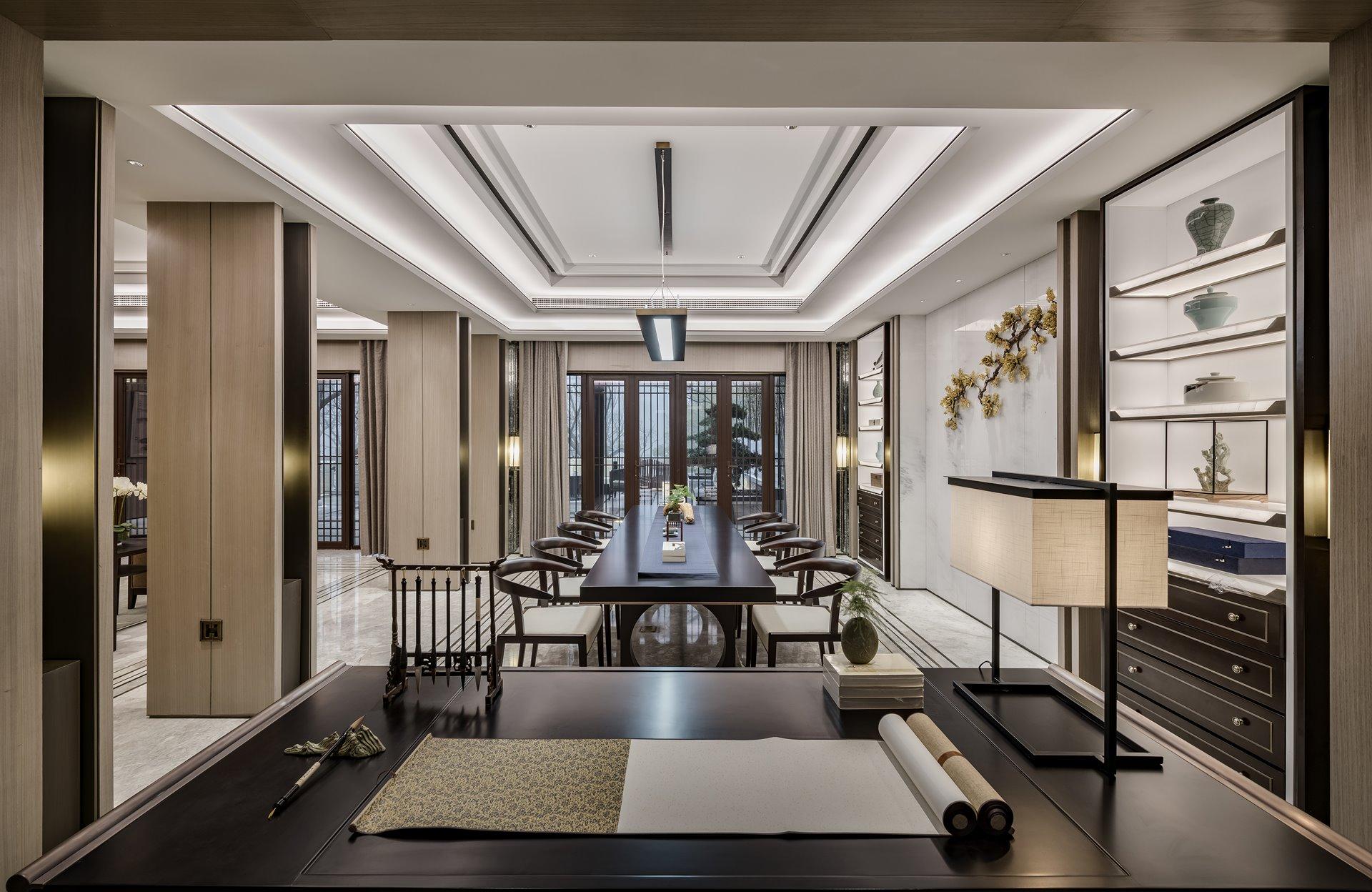 御翠园 别墅装修 新中式风格 腾龙设计 书房图片来自孔继民在中式风格设计方案展示案例展示的分享