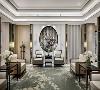 御翠园别墅项目装修中式风格设计方案展示,上海腾龙别墅设计作品,欢迎品鉴