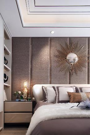 现代 美式 混搭 三居 大户型 复式 跃层 80后 小资 卧室图片来自高度国际姚吉智在160平米现代美式混搭优雅情调的分享