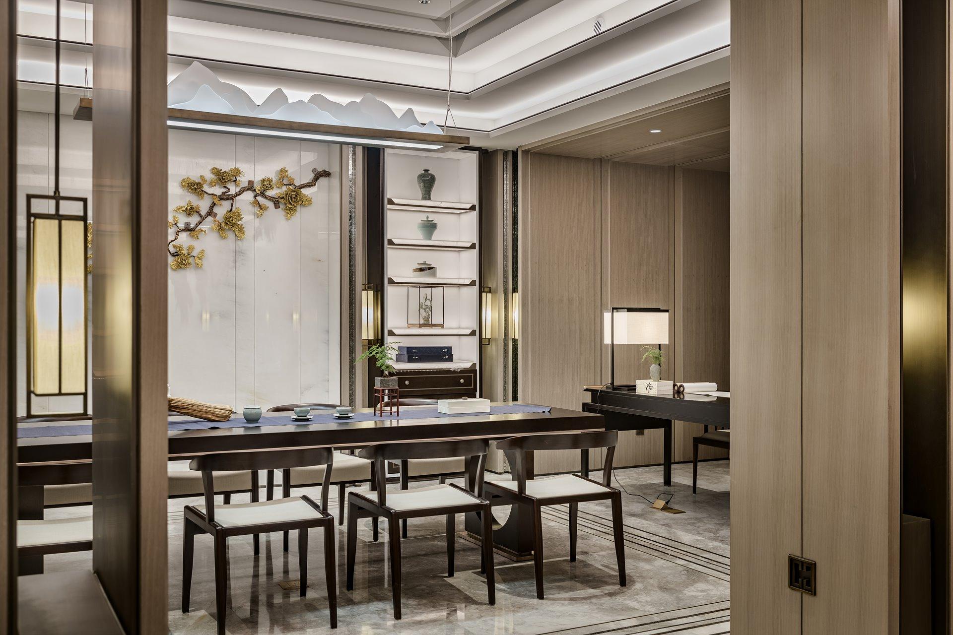 御翠园 别墅装修 新中式风格 腾龙设计 客厅图片来自孔继民在中式风格设计方案展示案例展示的分享