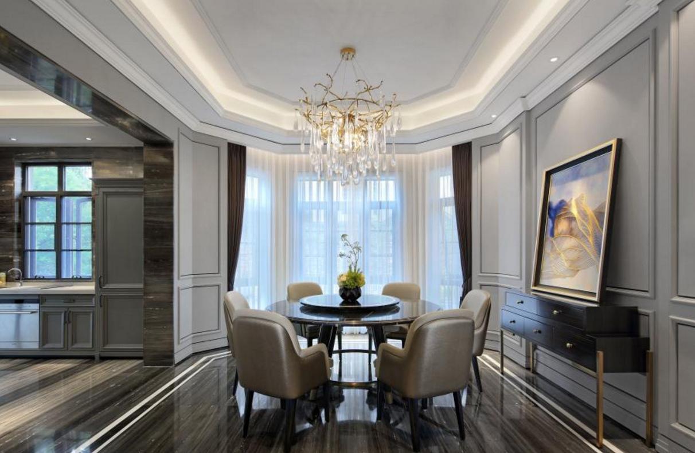 盛大金磐 装修设计 欧式古典 腾龙设计 餐厅图片来自孔继民在盛大金磐大宅新古典风格设计方案的分享
