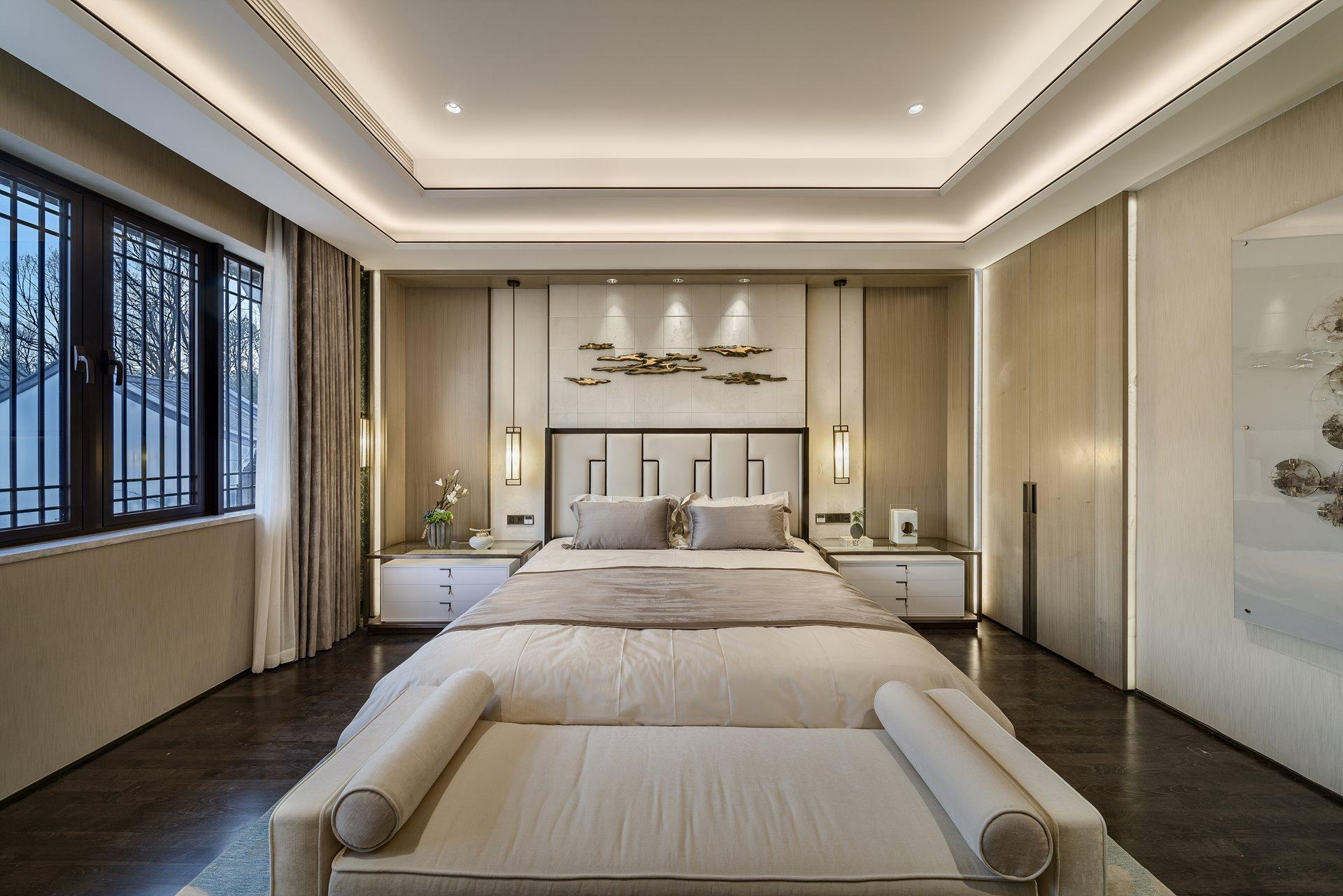 御翠园 别墅装修 新中式风格 腾龙设计 卧室图片来自孔继民在中式风格设计方案展示案例展示的分享