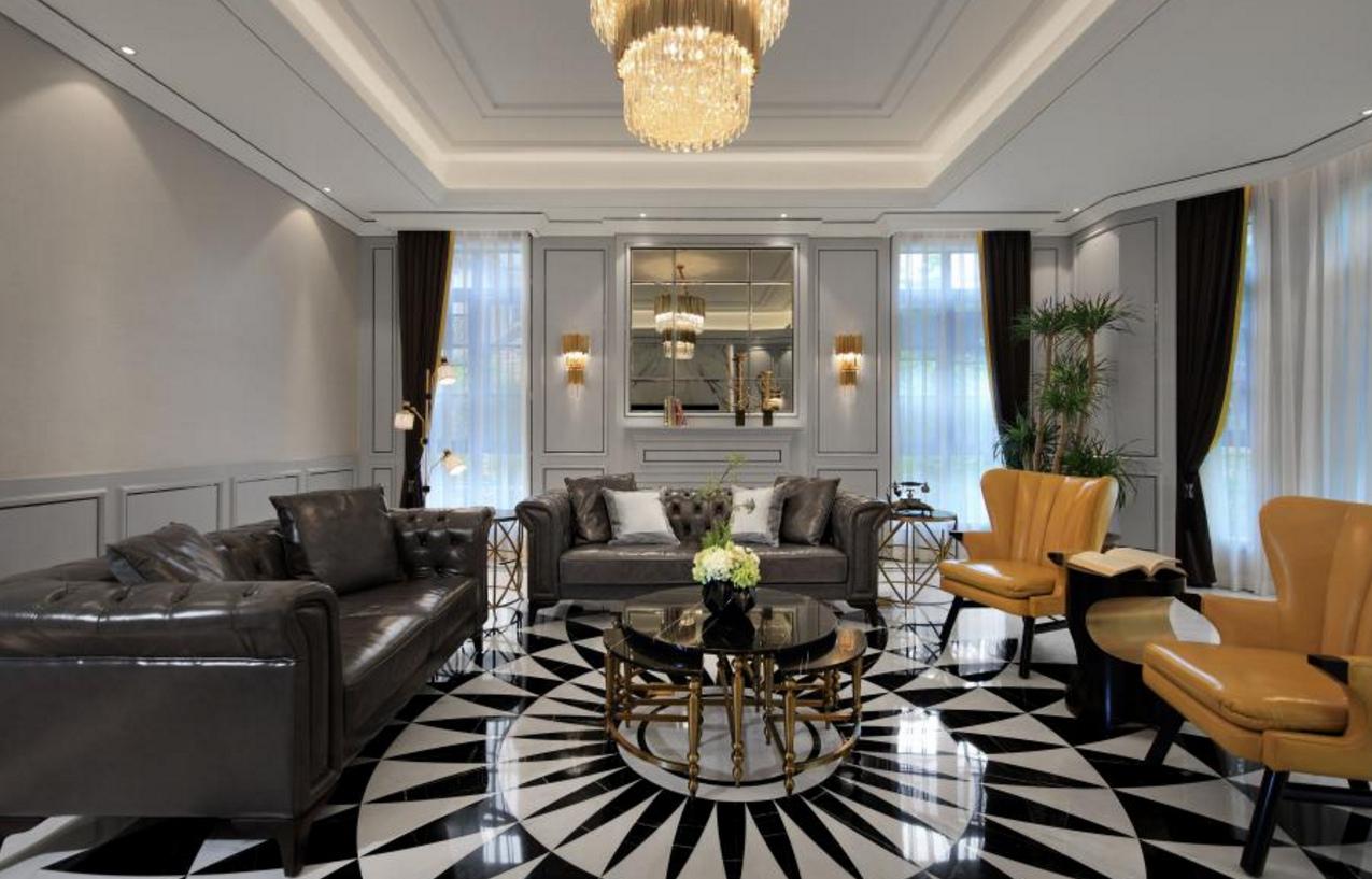 盛大金磐 装修设计 欧式古典 腾龙设计 客厅图片来自孔继民在盛大金磐大宅新古典风格设计方案的分享