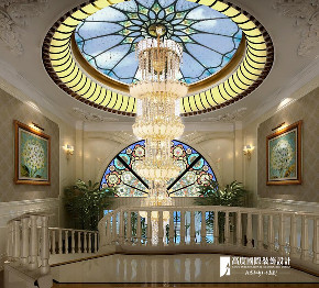 欧式 别墅 跃层 复式 大户型 80后 楼梯图片来自高度国际姚吉智在恒大丽宫别墅1400平米奢华欧式的分享
