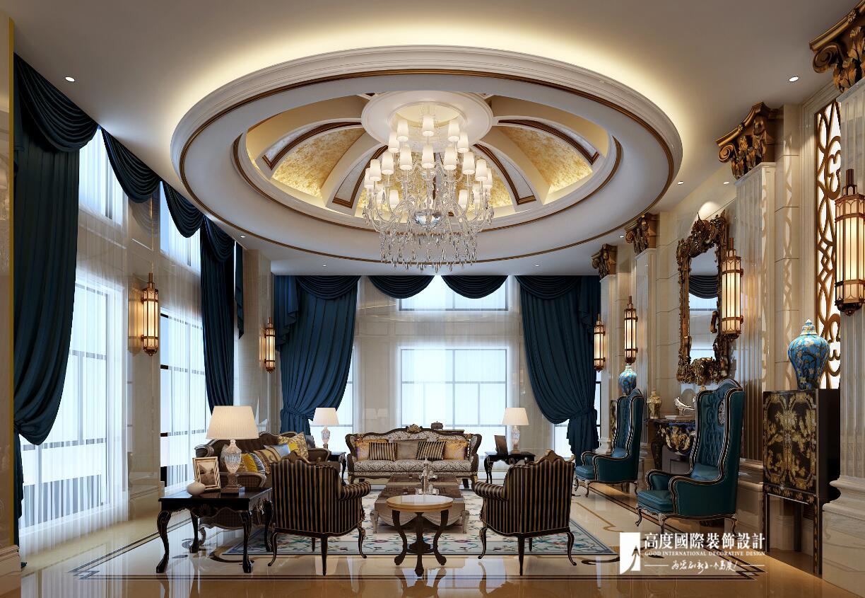 欧式 别墅 跃层 复式 大户型 80后 客厅图片来自高度国际姚吉智在恒大丽宫别墅1400平米奢华欧式的分享