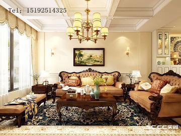 骊山国际美式装修,400平别墅