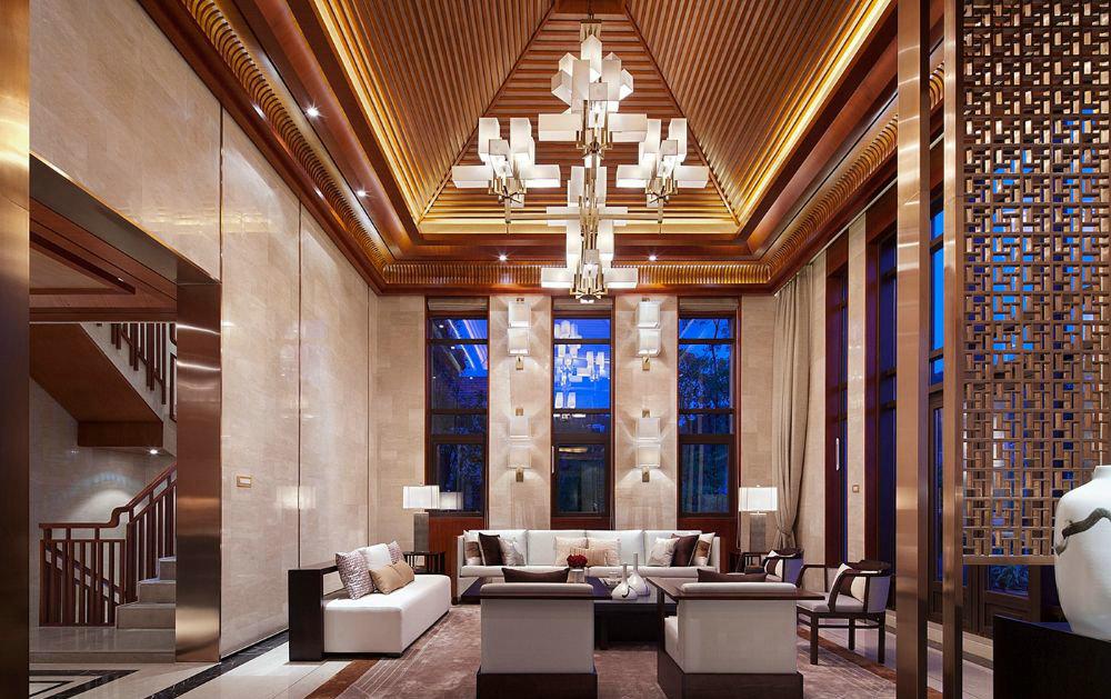 东郊半岛 别墅装修 中式风格 腾龙设计 客厅图片来自腾龙设计在东郊半岛别墅装修中式风格设计的分享