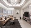 电视墙 选以纽约纽约大理石作主墙基底,藉由自然肌理及对花手法构筑奢华意象,并利用斗框延伸主墙比例,勾勒大器面容。