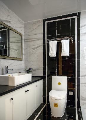 简约 三居 中式 卫生间图片来自言白设计在新中式风格的分享
