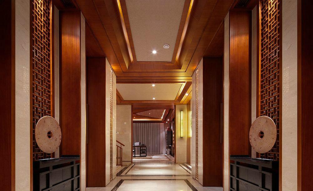 东郊半岛 别墅装修 中式风格 腾龙设计 玄关图片来自腾龙设计在东郊半岛别墅装修中式风格设计的分享