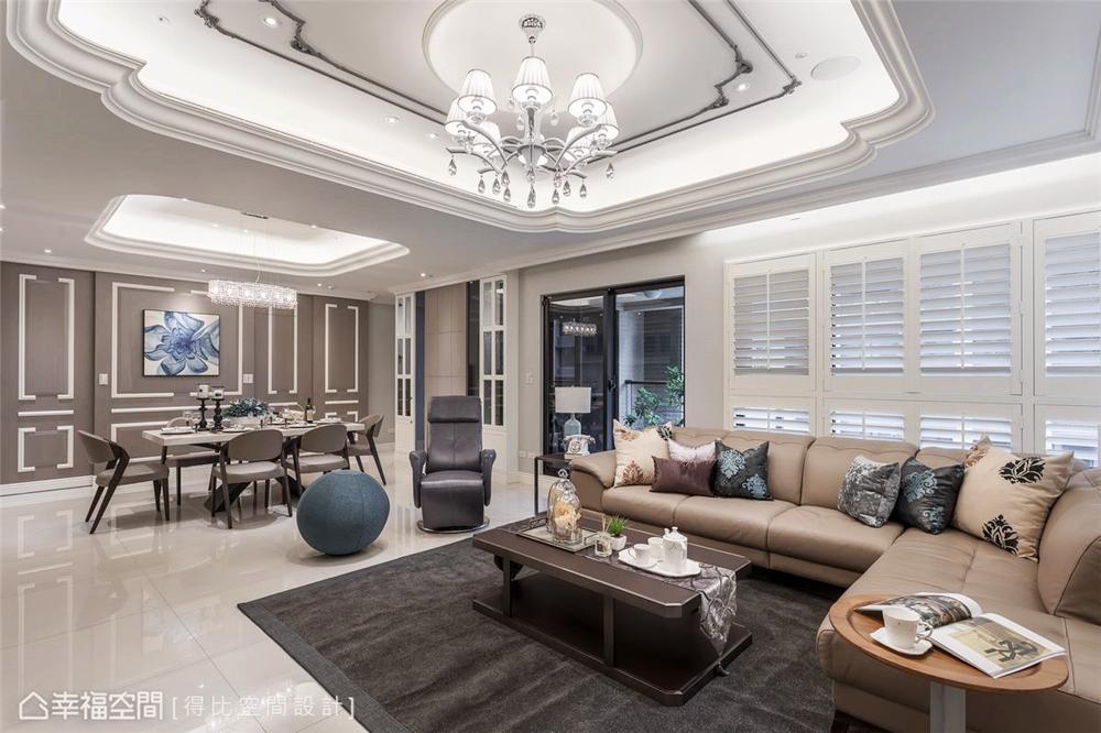 小资 旧房改造 收纳 白领 新古典 大理石 客厅图片来自幸福空间在172平,缔造时尚、清新气质居!的分享
