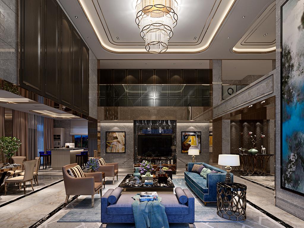 华侨城十号 别墅装修 新古典现代 腾龙设计 客厅图片来自腾龙设计在华侨城十号院680平别墅设计的分享