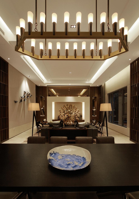 华侨城十号 别墅装修 现代风格 完工实景 腾龙设计 客厅图片来自腾龙设计在华侨城十号院别墅装修完工实景的分享