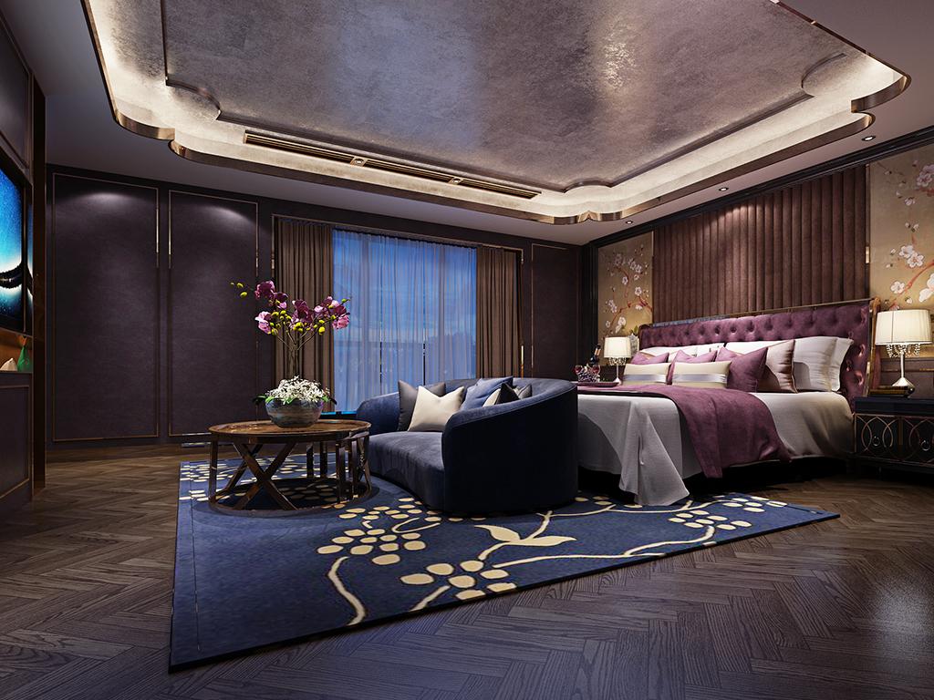 华侨城十号 别墅装修 新古典现代 腾龙设计 卧室图片来自腾龙设计在华侨城十号院680平别墅设计的分享