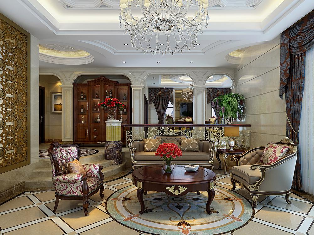 大华诺斐墅 别墅装修 欧美古典 腾龙设计 客厅图片来自孔继民在大华诺斐墅 欧美古典风格设计的分享