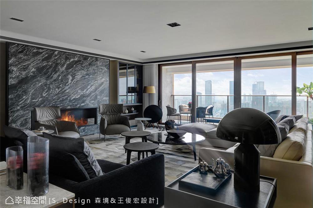 现代简约 白领 收纳 80后 小资 大平层 客厅图片来自幸福空间在496平大隐于市,逸居于艺粹之境的分享