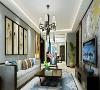山西紫苹果装饰 东瑞揽胜155平米新中式风格客厅装修案例展示