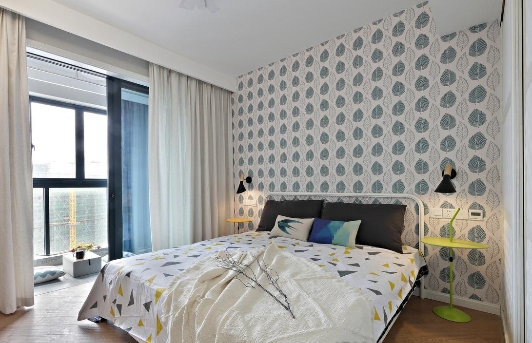 简约 三居 卧室图片来自言白设计在蝶舞北欧的分享